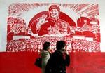 XIAN, CHINA - DECEMBER 13:  Visitors walk past...