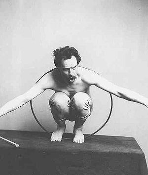 Franz Boas posing for figure in USNM (National...