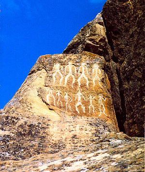 full photo of Gobustan rock drawing